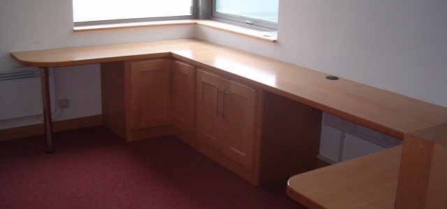American beech office furniture fit out