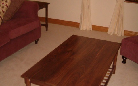 American walnut coffee table