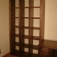 American walnut cube bookcase