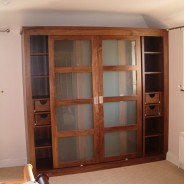 American walnut sliding door wardrobe