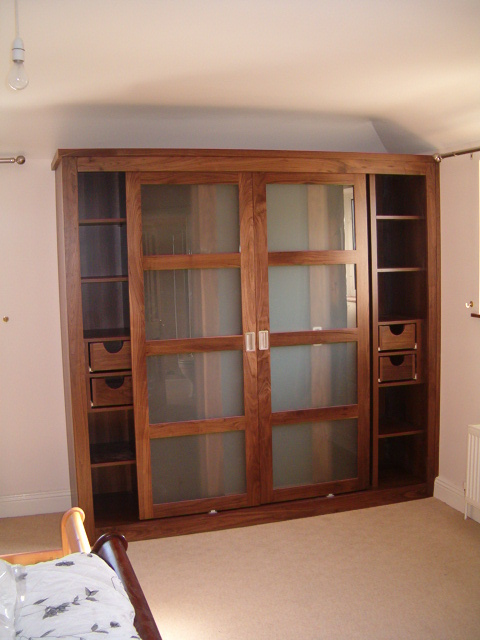 American Walnut Sliding Door Wardrobe Handcraft Interiors