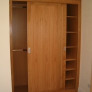 American white oak sliding door wardrobe