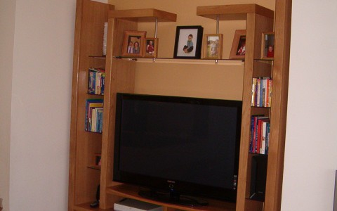 American white oak tv and display cabinet