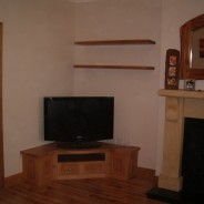American white oak tv unit