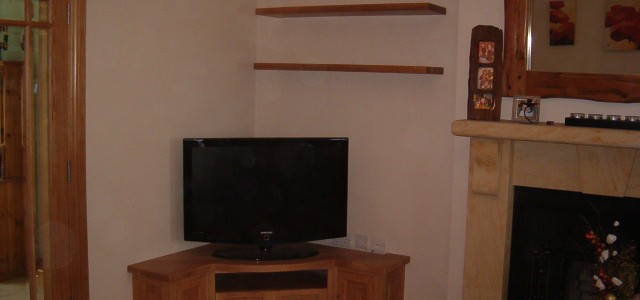 American white oak TV stand