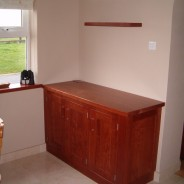 Cherry sideboard with floating shelves