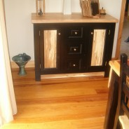 Irish Beech and painted black sideboard