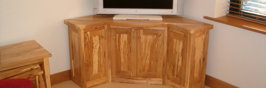 TV unit made from Irish beech