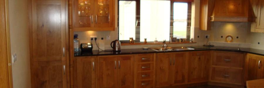 Kitchen design - Irish oak kitchen