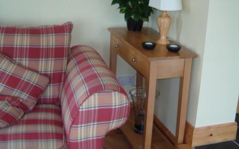 Irish oak console table