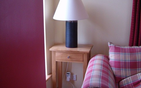 Irish oak Lamp table