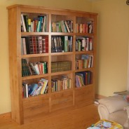 Irish oak cube bookcase