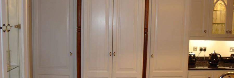 Ivory painted kitchen, bespoke kitchen design Galway