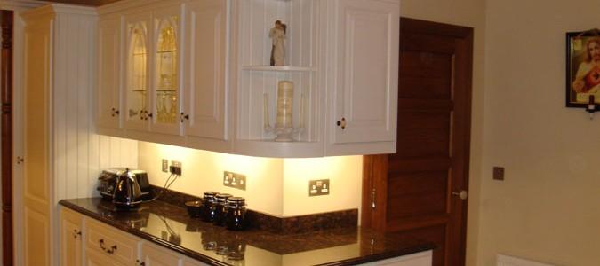 Custom kitchen design in Galway ivory painted kitchen