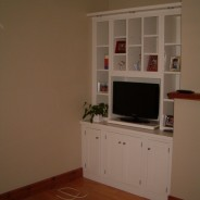 Painted French white tv and display cabinet
