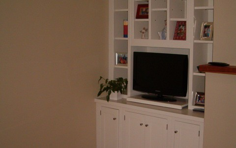 Painted furniture - French white tv and display cabinet
