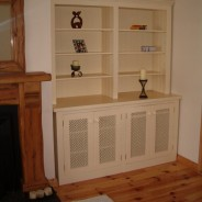 Painted cream bookcase