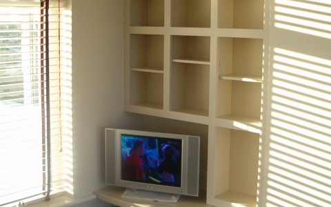 Painted furniture - TV unit and cube shelving