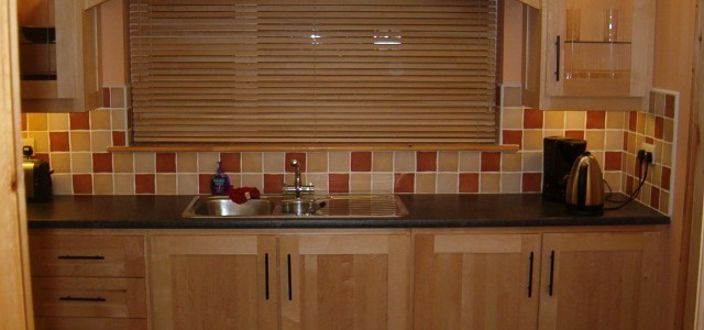 Custom kitchen design in Galway solid maple kitchen