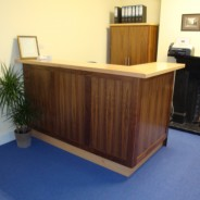 Walnut and Maple Reception Desk