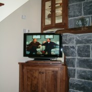 Walnut tv and display cabinet