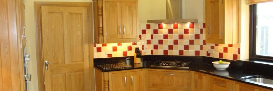 Kitchen design - white oak shaker style kitchen