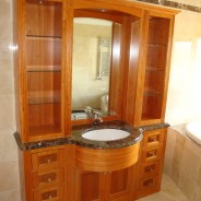 cherrywood bathroom display cabinet
