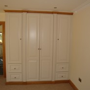 french white and white oak wardrobe